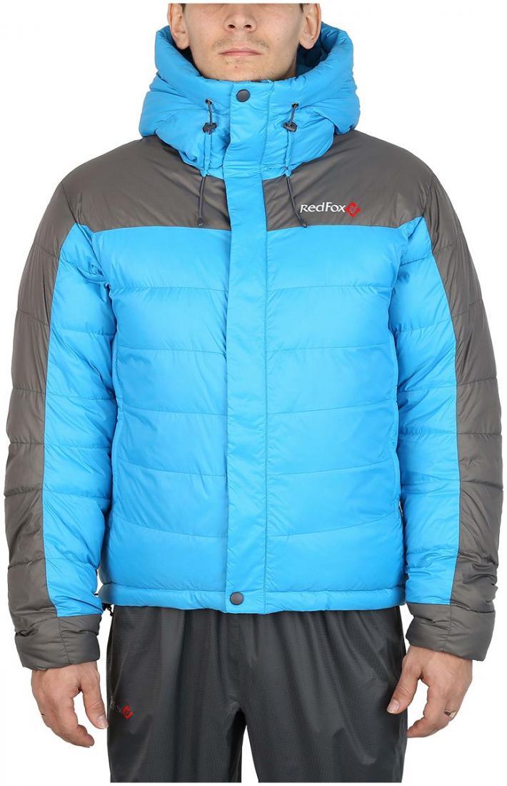 Куртка пуховая KarakorumКуртки<br>Самая теплая пуховая куртка для альпинизма в коллекции Mountain Sport. Выполнена из сверхлегкого и прочного материала с применением пуха высокого качества (F.P 650+). Пухоудерживающая конструкция без использования сквозных швов, малый вес изделия и выс...<br><br>Цвет: Голубой<br>Размер: 54