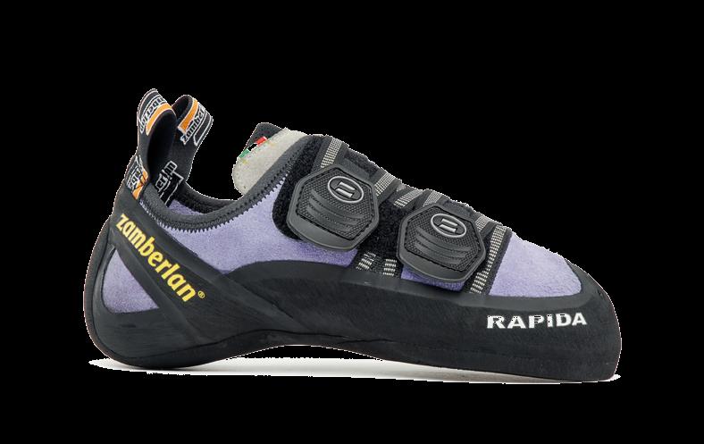 Скальные туфли A80-RAPIDA WNSСкальные туфли<br><br>Многонаправленные застежки Velcro (запатентованная система)<br>Специальная обработка замши позволяет сохранить форму колодки<br>Широкий резиновый носок гарантирует максимальное сцепление в экстремальной ситуации<br>Приме...<br><br>Цвет: Фиолетовый<br>Размер: 35.5