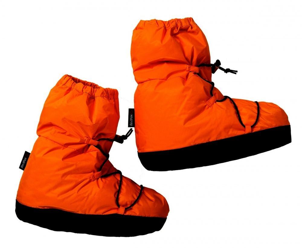 Чуни пуховые IIАксессуары<br>Чуни с утеплителем из натурального пуха для использования в условиях бивака после тяжелого дня в зимних горах.<br><br>Основное назначение: альпинизм, туризм<br>Материал: 100% nylon Microfeel Ripstop,30D, 50 g/sqm, Cire ,Down-proof by con...<br><br>Цвет: Оранжевый<br>Размер: S