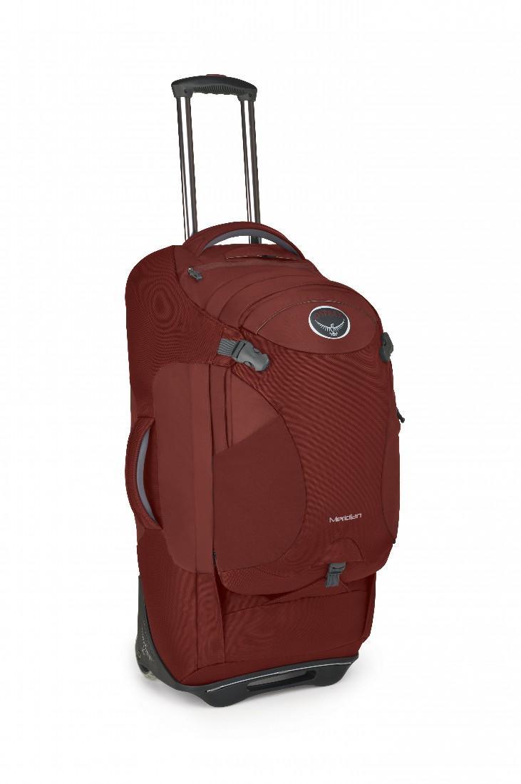 Сумка-рюкзак на колёсах Meridian 75Сумки<br>Удовольствие от путешествия заключается как раз в том, что вы не знаете, что ждет за углом. Камни? Песок? Ступеньки? С сумкой серии Meridian, легко трансформирующейся в рюкзак, вы окажетесь, максимально мобильны в любом путешествии. Она обладает надежн...<br><br>Цвет: Бордовый<br>Размер: 75 л