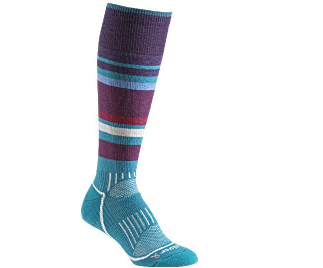 Носки лыжные жен.5513 SundownНоски<br><br> Эти очень тонкие носки создают ощущение «босой ноги» и обладают идеальной посадкой с учетом анатомических особенностей женской ноги. Благодаря уникальной системе переплетения волокон Wick Dry® и использованию Eco волокон, влага быстро испаряется с ...<br><br>Цвет: Голубой<br>Размер: S