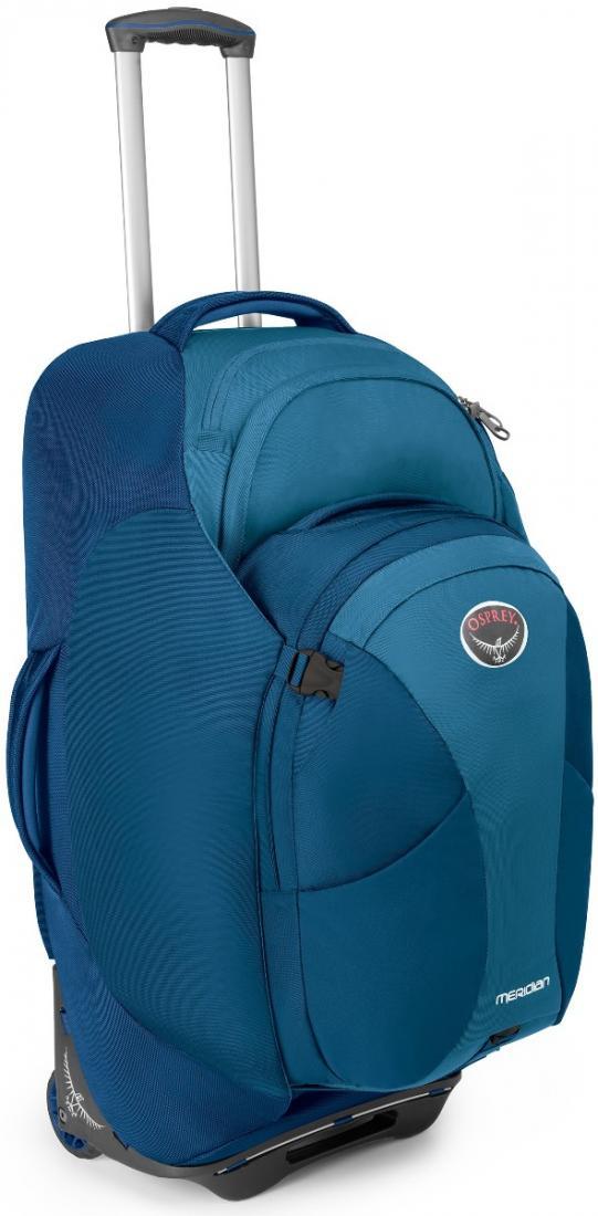 Сумка-рюкзак на колёсах Meridian 75Сумки<br>Удовольствие от путешествия заключается как раз в том, что вы не знаете, что ждет за углом. Камни? Песок? Ступеньки? С сумкой серии Meridian, легко трансформирующейся в рюкзак, вы окажетесь, максимально мобильны в любом путешествии. Она обладает надежн...<br><br>Цвет: Зеленый<br>Размер: 75 л