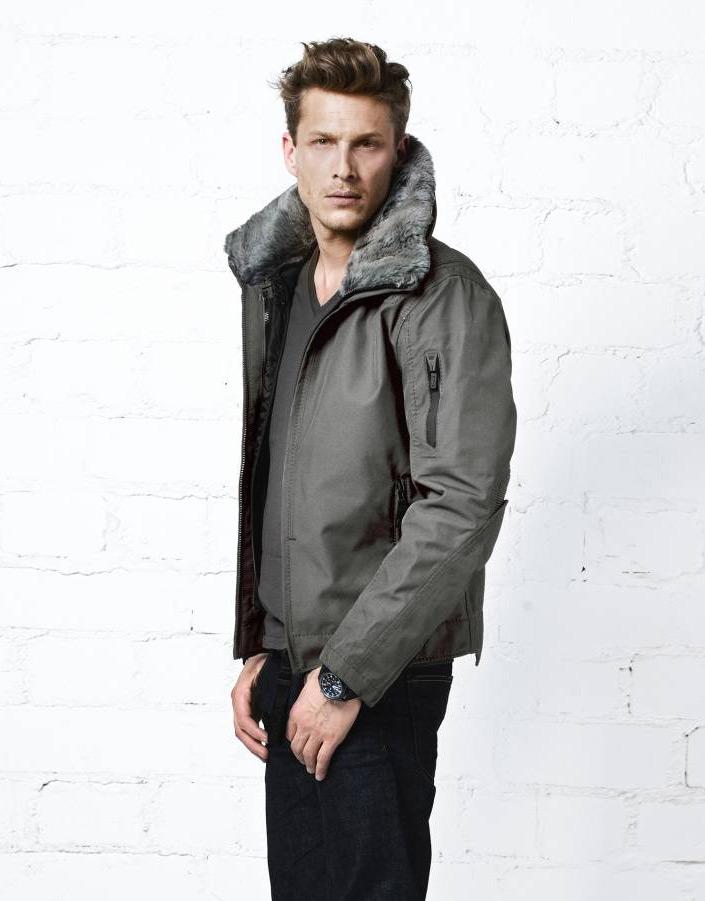 фото Куртка утепленная с мехом муж.Moto