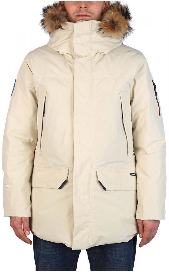 Куртка пуховая Kodiak II GTX МужскаяКуртки<br><br>Kodiak II GTX - пуховая непромокаемая парка из материала GORE-TEX®, рассчитанная на использование в условиях низких температур. Универсальная, оч...<br><br>Цвет: Оттенок желтого<br>Размер: 48