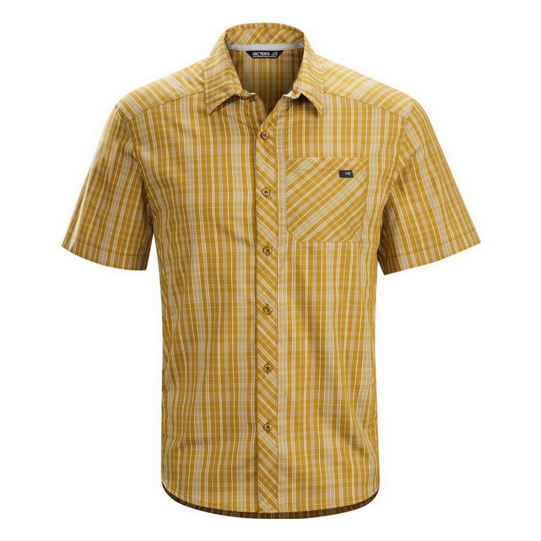 Рубашка Peakline Shirt SS муж.Рубашки<br><br><br>Цвет: Коричневый<br>Размер: L