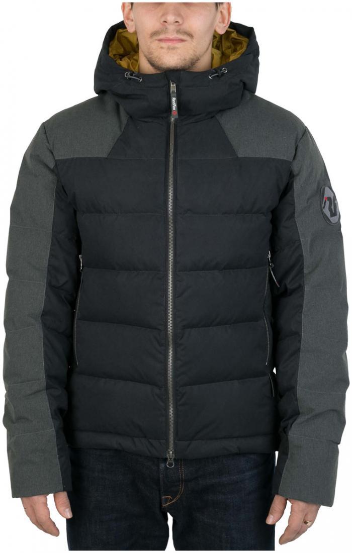 Куртка пуховая Nansen МужскаяКуртки<br><br> Пуховая куртка из прочного материала мягкой фактуры с «Peach» эффектом. стильный стеганый дизайн и функциональность деталей позволяют использовать модель в городских условиях и для отдыха за городом.<br><br><br>  Основные характеристики <br>&lt;...<br><br>Цвет: Черный<br>Размер: 46
