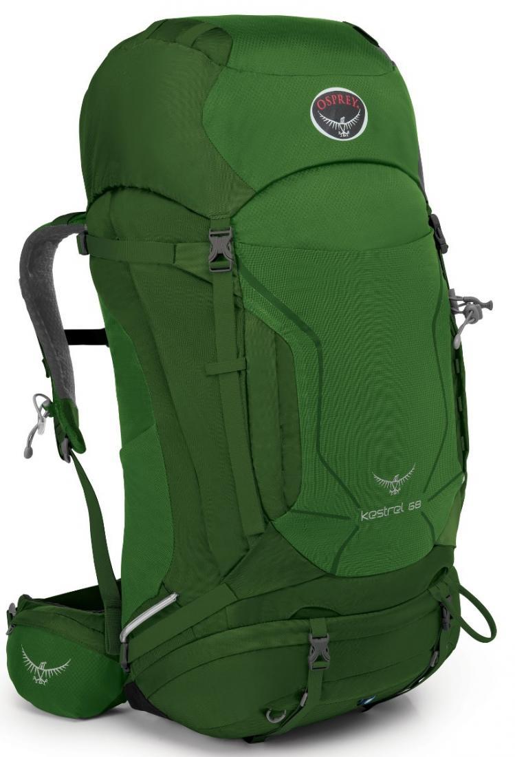 Рюкзак Kestrel 68Рюкзаки<br><br> Универсальные всесезонные рюкзаки серии Kestrel разработаны для самых разных видов Outdoor активности. Специальная накидка от дождя защитит рюкзак и вещи от промокания. Хорошо вентилируемая регулируемая спина AirSpeed™ позволяет сбалансировать цент...<br><br>Цвет: Темно-зеленый<br>Размер: 70 л