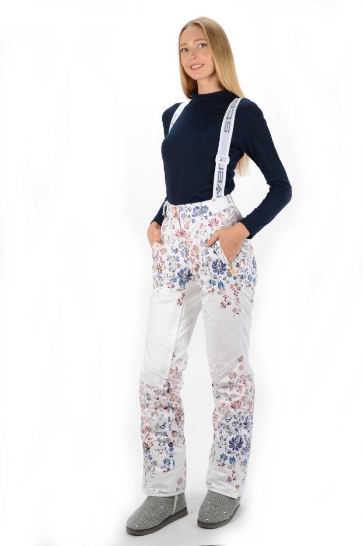 Брюки 22522 жен.Брюки, штаны<br>Технологичные горнолыжные брюки с авторским принтомParadise и оптимальными показателями ветро-влагозащиты и паропроницаемости в сочетании...<br><br>Цвет: Белый<br>Размер: 48