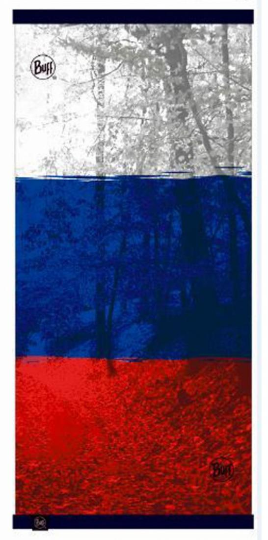 Buff Бандана BUFF REVERSIBLE POLAR RUSSIAN FLAG Синий бандана buff buff reversible polar lao светло бежевый 53 62cm