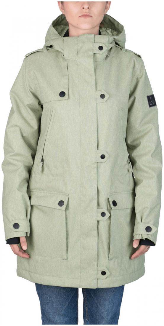 Куртка утепленная Prk WКуртки<br>Женственность и функциональность гармонично сочетаются в куртке PRK. Удлиненная парка способна сделать силуэт визуально стройнее благодаря стяжкам на талии. В этой куртке детали выполняют не только декоративную функцию: кнопки надежно фиксируют ветроза...<br><br>Цвет: Светло-зеленый<br>Размер: 42