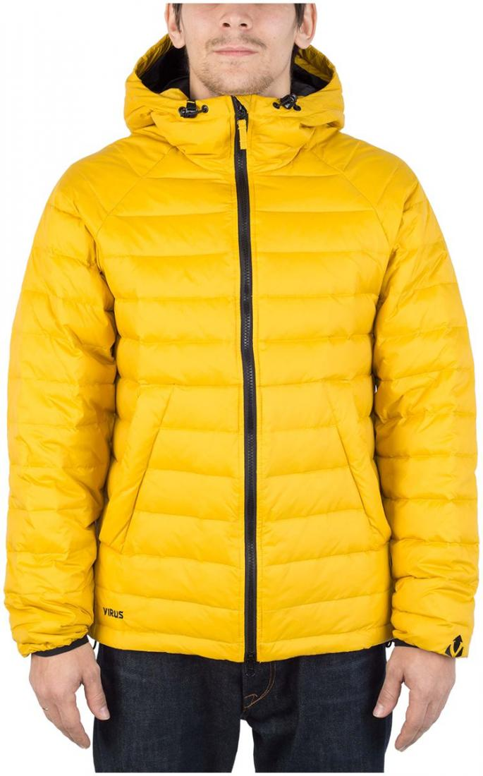 Куртка пуховая PUSHERКуртки<br><br>Пуховая кенгуру? Почему бы и нет! Легкая. Выполнена из тонкой ткани с водоотталкивающей обработкой DWR. Куртка отлично сидит по фигуре.<br>...<br><br>Цвет: Желтый<br>Размер: 56