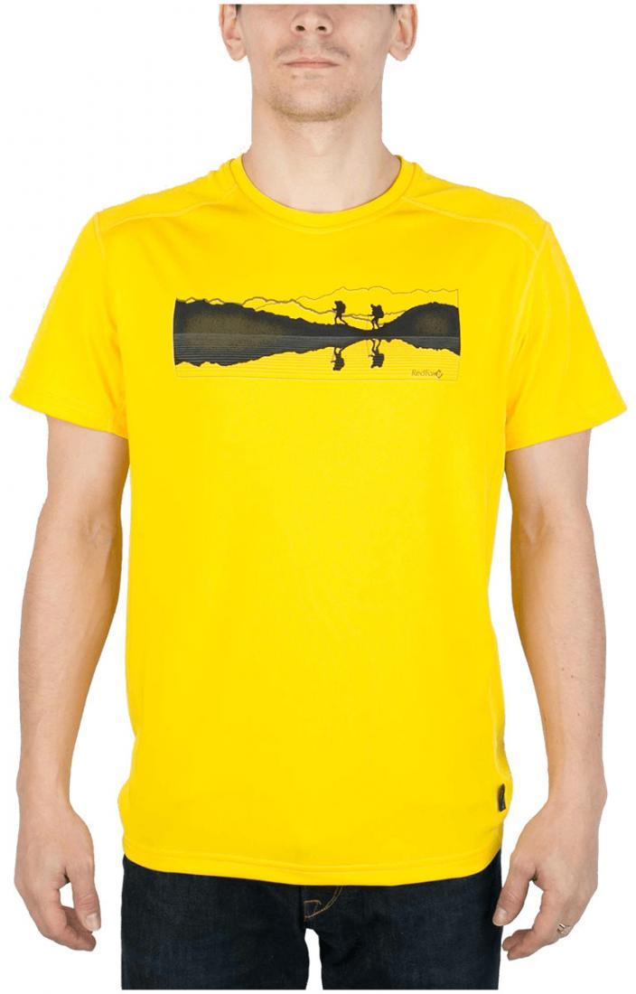 Футболка Breeze T МужскаяФутболки, поло<br><br> Мужская футболка «свободного» кроя с оригинальным аутдор принтом<br><br><br> Основные характеристики:<br><br><br>материал с высокими показателями воздухопроницаемости<br>обработка материала, защищающая от ультрафиолетовых лучей...<br><br>Цвет: Желтый<br>Размер: 56