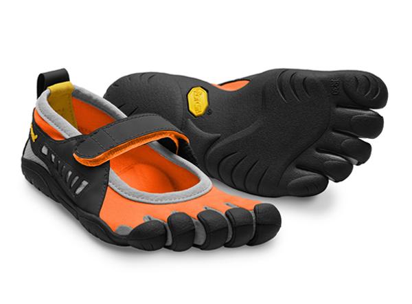 цена на VIBRAM Мокасины FIVEFINGERS SPRINT Kids (32, 1101 Оранжевый/черный/серый, ,)