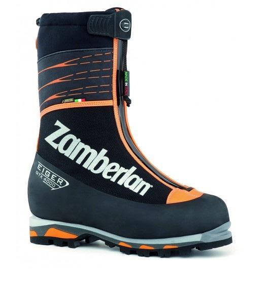 Ботинки 4000 EIGER RRАльпинистские<br><br> Идеальный выбор для альпинистской экспедиции. Отличная внутренняя регулировка микроклимата и утепление. Эластичные гетры с высоким уровнем водонепроницаемости. Легко надеваются, компактная и идеально облегающая ногу модель. Полиуретановая танкетка ...<br><br>Цвет: Черный<br>Размер: 45