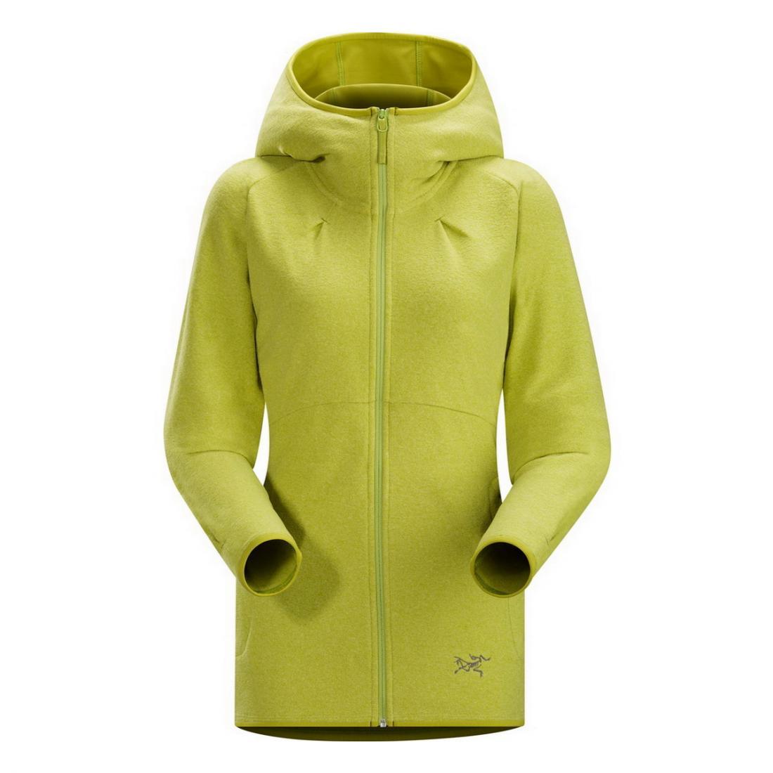 Куртка Caliber Hoody жен.Куртки<br><br><br><br> Заниматься спортом в куртке Caliber Hoody Womens удобно, тепло и практично. Это женская модель от компании Arcteryx для прохладной погоды. Удли...<br><br>Цвет: Салатовый<br>Размер: M