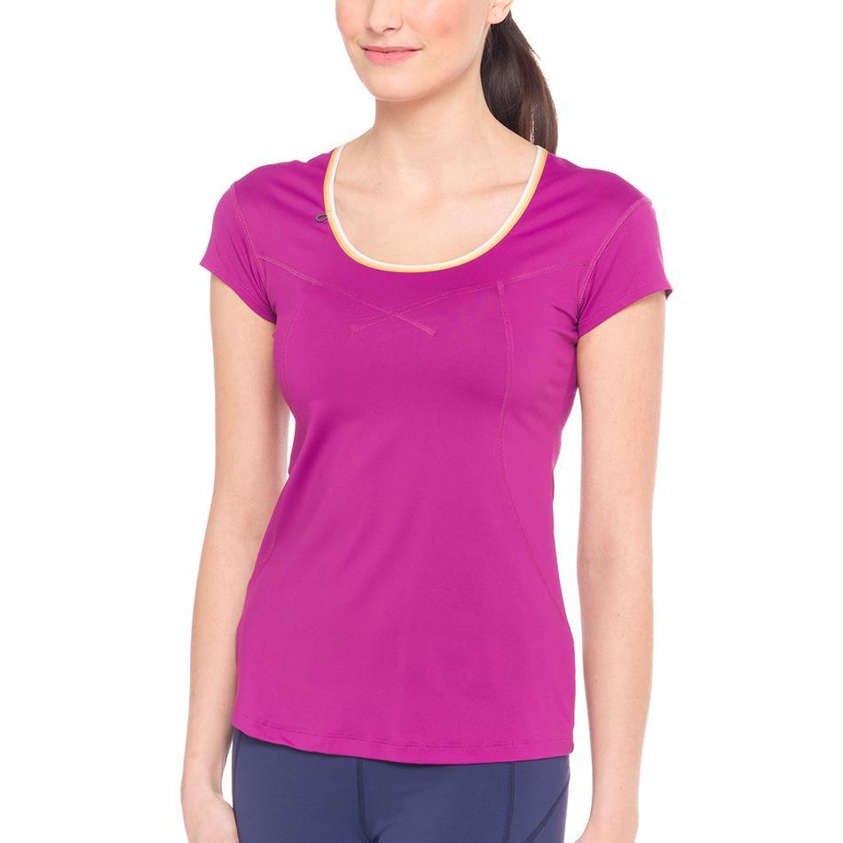 Футболка LSW1320 CARDIO T-SHIRTФутболки, поло<br><br> Lole Cardio T-Shirt это классическая однотонная женская футболка. В ней приятно и комфортно проводить фитнес-тренировки или заниматься бегом. Легкая и мягкая ткань быстро отводит влагу и позволя...<br><br>Цвет: Малиновый<br>Размер: S