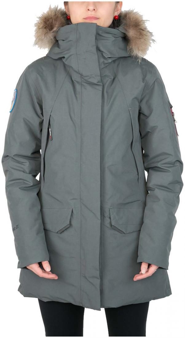 Куртка пуховая Kodiak II GTX ЖенскаяКуртки<br><br><br>Цвет: Серый<br>Размер: 42