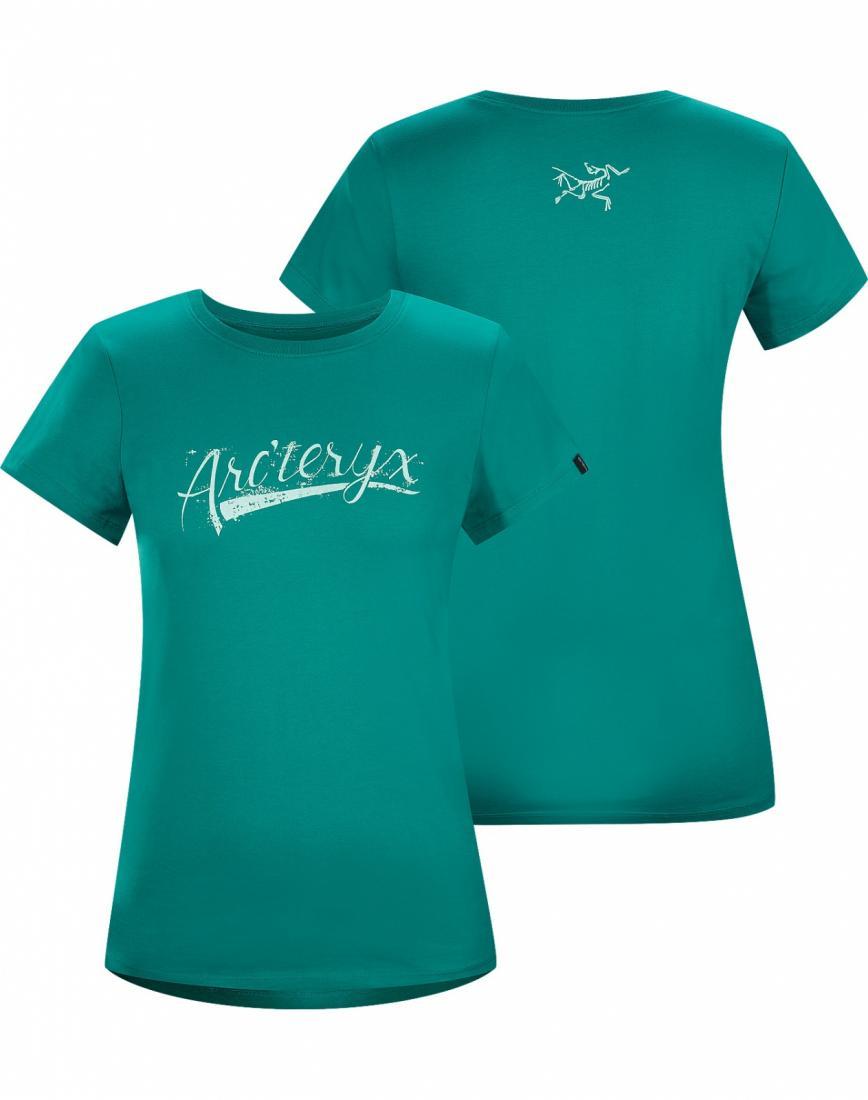 Футболка Script T-Shirt SS жен.Футболки, поло<br>ДИЗАЙН: Футболка из хлопка с короткими рукавами и с рисунком, нанесенным с помощью вытравной печати. Надпись оригинальным шрифтом на груд...<br><br>Цвет: Голубой<br>Размер: XS