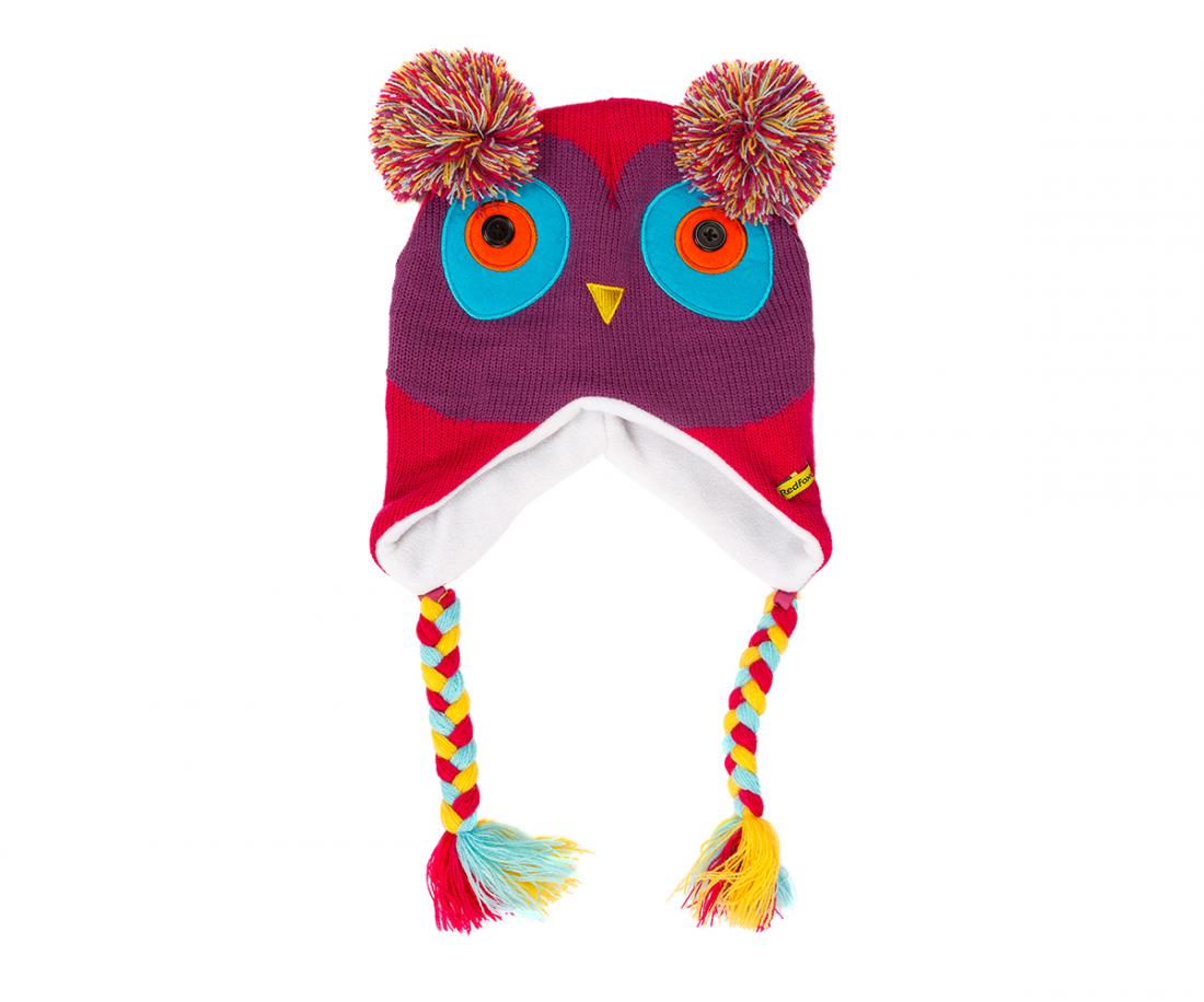 Шапка утепленная Animals ДетскаяШапки<br>Теплая вязаная шапочка. Флисовая подкладка обеспечивает комфортное ношение и исключительное сохранение тепла.<br><br>Материал – Acrylic.<br>Подкладка – Polyester.<br><br><br>Цвет: Фиолетовый<br>Размер: 48-50