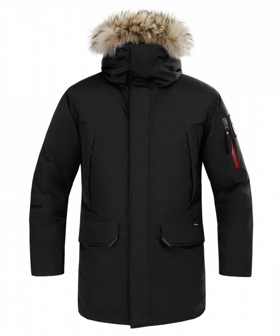 Куртка пуховая Kodiak III GTX МужскаяКуртки<br>Куртка пуховая Kodiak III GTX Мужская<br><br>основное назначение: полярные экспедиции, путешествия, загородный отдых<br>дополнительное утепление плечей синтетическим утеплителем<br>регулируемый по высоте капюшон с конструкцией туб...<br><br>Цвет: Черный<br>Размер: XL