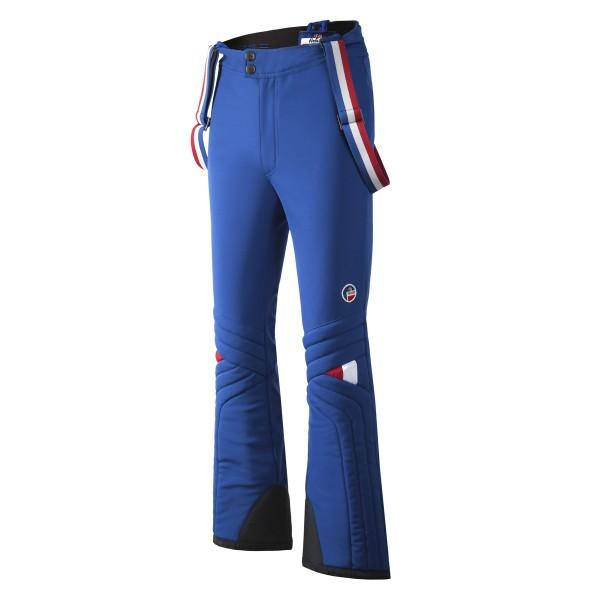 Брюки мужские E2607 CHAMROUSSEБрюки, штаны<br><br> Мужские брюки Chamrousse – удобная модель для зимних видов спорта от бренда Fusalp, названная в честь известного горнолыжного курорта. Изделие...<br><br>Цвет: Синий<br>Размер: 42
