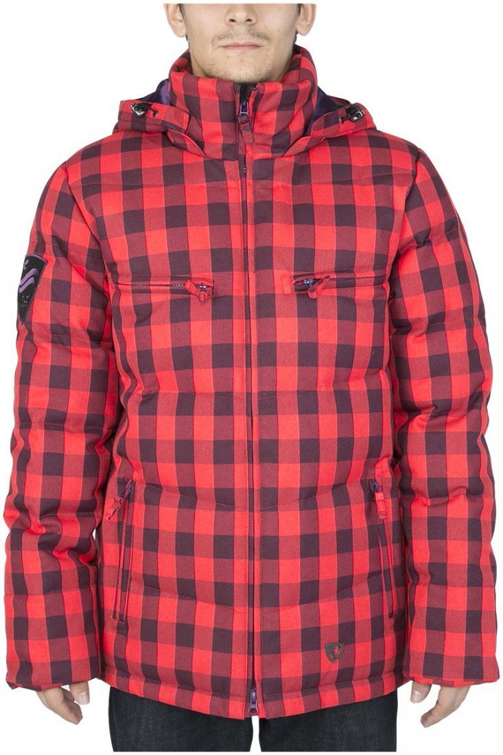 Куртка пуховая PythonКуртки<br><br> Отличительная черта этой куртки – минимализм. Ничего лишнего и нефункционального в ней нет. Но есть комфортная посадка Mid-fit, широкий во...<br><br>Цвет: Красный<br>Размер: 56