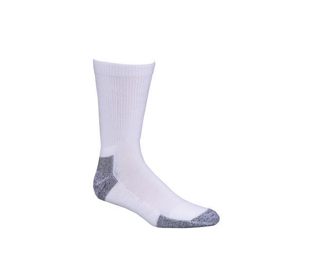 Носки армейские 6018-2 PT CREWНоски<br><br> Армейские носки PT CREW длиной до средины голени надежно защищают ноги от различных компрессионных повреждений. Они обеспечивают оптимальную посадку и не вызывают дискомфорта в течение дня. Специальные уплотнения на пятке и пальцах придают модели и...<br><br>Цвет: Белый<br>Размер: XL