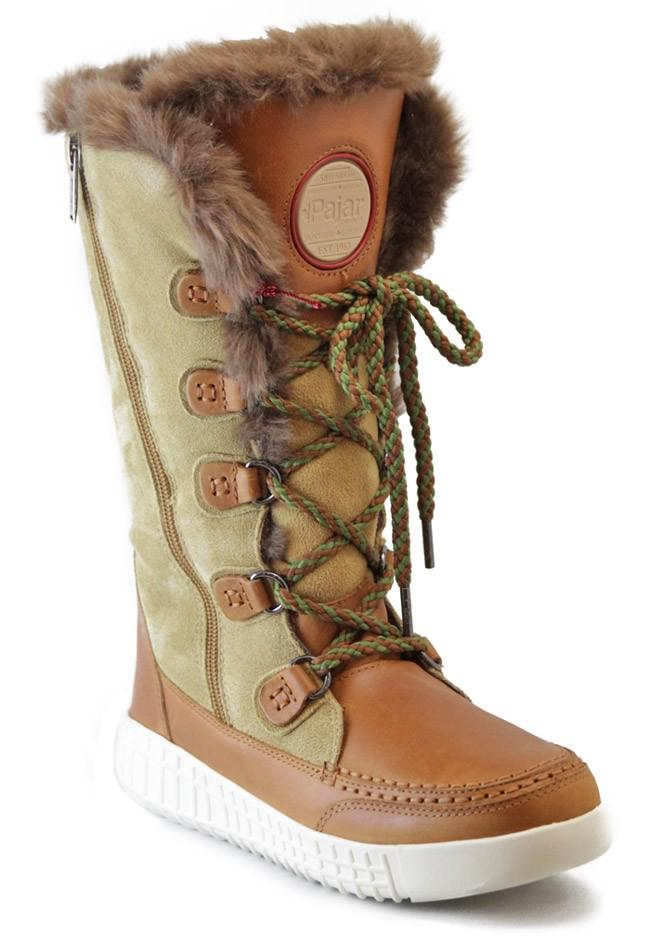 Ботинки женские PAITYNБотинки<br>Модные функциональные женские ботинки, невероятно удобные при передвижении по снегу. Обеспечивают тепло и комфорт при низких температурах.<br><br>Серия: для ходьбы по снегу<br>Верх: замша/ кожа<br>Подкладка: искусственный мех...<br><br>Цвет: Бежевый<br>Размер: 37