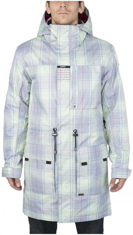 Куртка утепленная KronikКуртки<br><br> Утепленный городской плащ с полным набором характеристик сноубордической куртки. Функциональная снежная юбка, регулируемые манжеты прекрасно сочетаются со стяжками на поясе и удлиненным силуэтом. Яркая ткань или стильный принт этой модели непременн...<br><br>Цвет: Голубой<br>Размер: 56