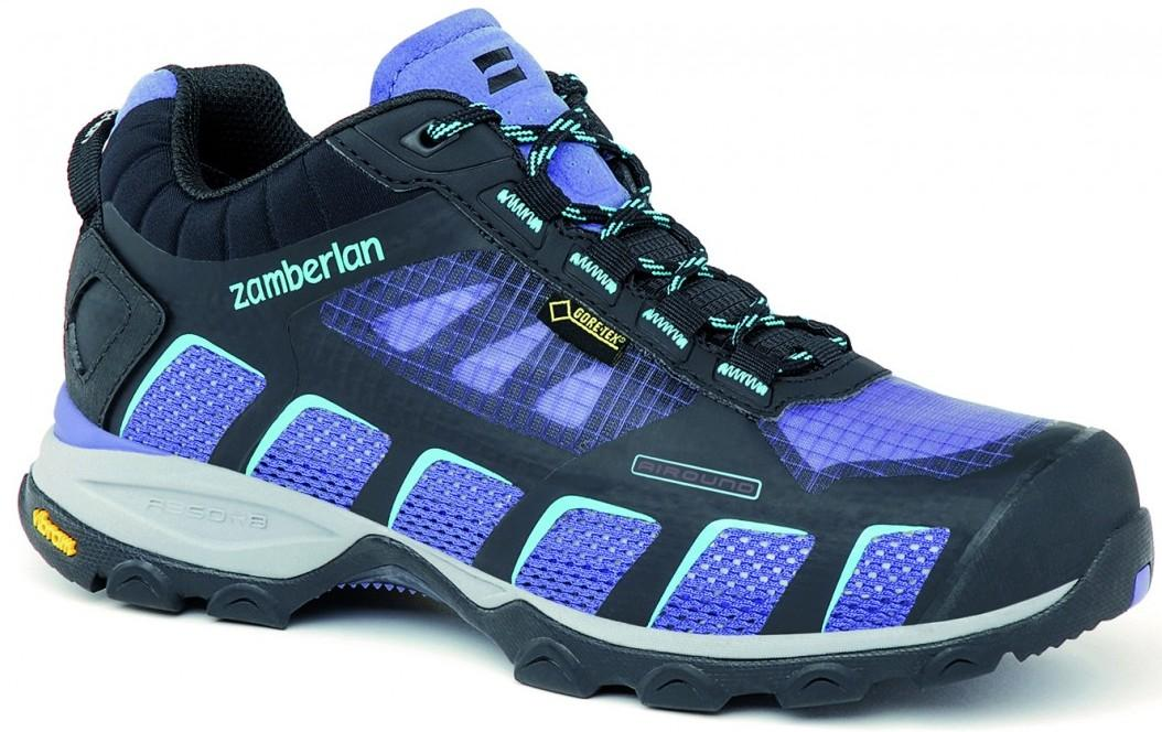 Кроссовки 132 AIR-ROUND GTX RR WNSТреккинговые<br><br> Стильные ботинки средней высоты для легкого и уверенного движения по горным тропам. Комфортная посадка этих ботинок усовершенствована за счет эксклюзивной внешней подошвы Zamberlan® Vibram® Speed Hiking Lite, которая позволяет максимально эффективн...<br><br>Цвет: Фиолетовый<br>Размер: 39.5