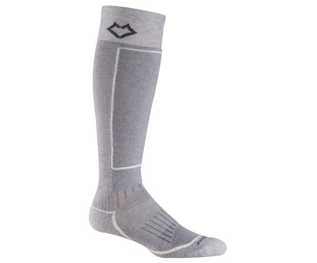 Носки лыжные 5021 BoyneНоски<br>Изготовленные с применением технологии Wick Dry® и Eco волокон, эти носки создают мягкую поддержку ноги и эффективно отводят влагу, сохраняя н...<br><br>Цвет: Серый<br>Размер: L