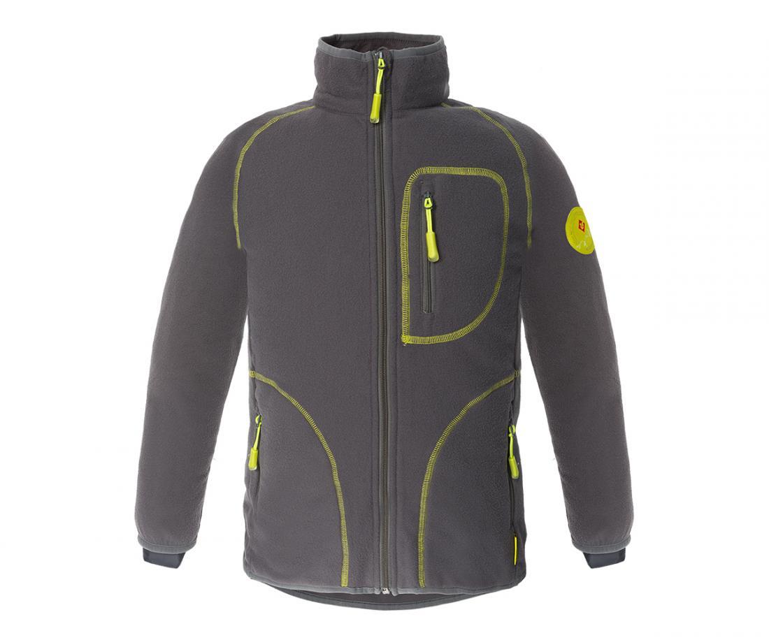 Куртка Hunny ДетскаяКуртки<br>Классическая куртка из флиса. Теплый уютный флис согреет вашего ребенка в прохладную погоду и станет превосходным дополнительным утеплением в морозное время года.<br> <br><br>Материал – Polar Fleece.<br>Защита для подбородка.<br>&lt;li...<br><br>Цвет: Серый<br>Размер: 140