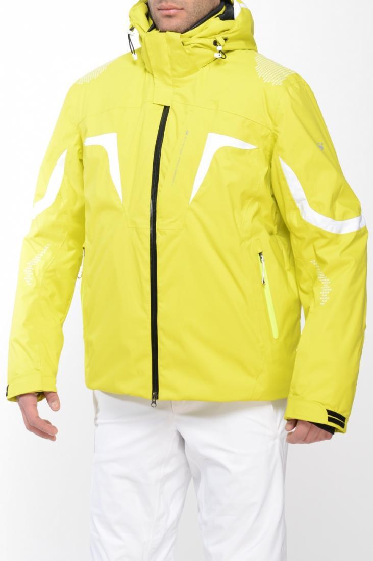 Куртка спортивная 423105Верхняя одежда<br>Новая горнолыжная модель с декоративными вставками. Благодаря полному набору важных деталей отлично подойдет для новичков и профессионал...<br><br>Цвет: Зеленый<br>Размер: 48