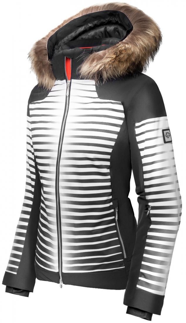 Куртка Izzy жен.Куртки<br>Смелый дизайн с принтом из четких линий, женственный приталенный силуэт и эластичный материал 4way Stretch делают эту куртку идеальной для катания в горах, повседневной жизни и для активного отдыха за городом. Утеплитель Thinsulate в тандеме с технолог...<br><br>Цвет: Черный<br>Размер: 42