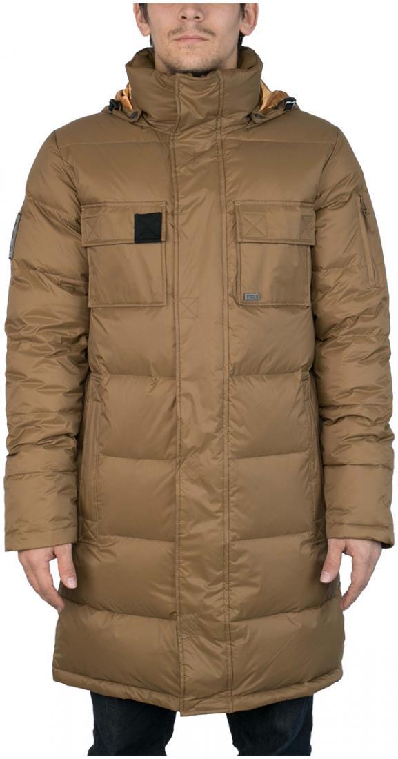 Куртка пуховая EnvelopeКуртки<br><br> Самый длинный мужской пуховик в коллекции ViRUS. Классическая прострочка, два накладных кармана на груди и масса комфорта. Все это о пухов...<br><br>Цвет: Коричневый<br>Размер: 48