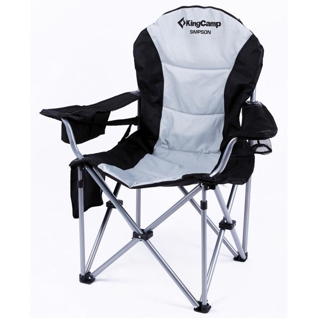 King Camp Кресло 3888 скл.сталь.Delux Arms Chair (97x60x105, Black, ,)