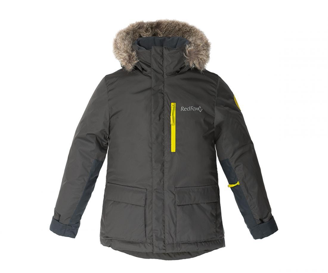 Куртка утепленная Spy Fox II ДетскаяКуртки<br>Стильная и комфортная зимняя куртка для подростков c опушкой из искусственного меха на капюшоне и регулировками по объему и глубине.<br> Два боковых кармана на молнии, внутренний карман и карман на рукаве, регулируемые манжеты на рукавах, затяжка по низ...<br><br>Цвет: Темно-серый<br>Размер: 128