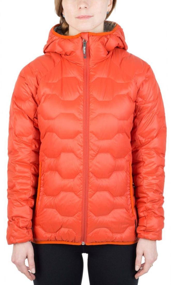 Куртка пуховая Belite III ЖенскаяКуртки<br><br> Легкая пуховая куртка с элементами спортивного дизайна. Соотношение малого веса и высоких тепловых свойств позволяет двигаться активно в течении всего дня. Может быть надета как на тонкий нижний слой, так и на объемное изделие второго слоя.<br><br>...<br><br>Цвет: Оранжевый<br>Размер: 46