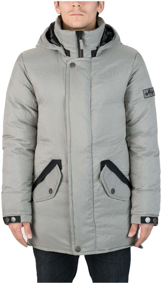 Куртка пуховая SandwichКуртки<br><br>Удлиненный мужской пуховик Sandwich создан специально для суровых российских зим. Утеплитель на основе из гусиного пуха, нетривиальные дет...<br><br>Цвет: Серый<br>Размер: 46