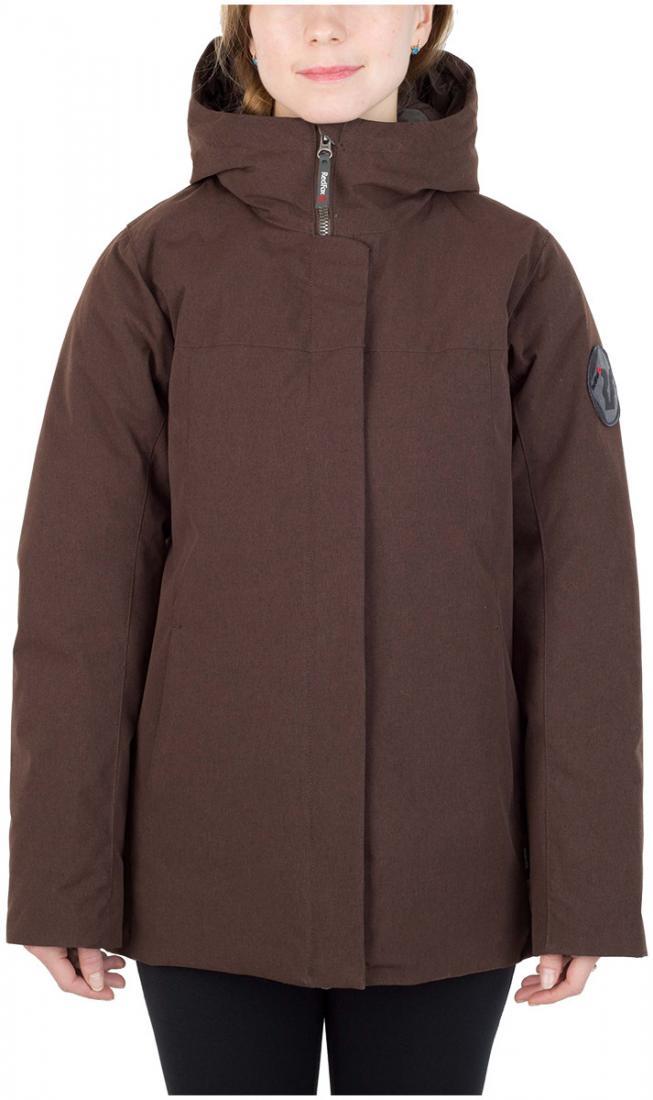 Полупальто пуховое Urban Fox ЖенскоеПальто<br><br> Пуховая куртка минималистичного дизайна из прочного материала c «m?lange» эффектом, обладает всеми необходимыми качествами, чтобы полнос...<br><br>Цвет: Коричневый<br>Размер: 42