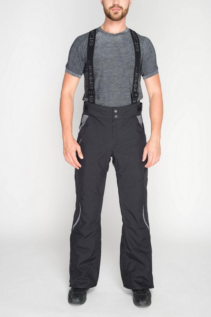 Брюки утепленные 222091Брюки, штаны<br>Горнолыжные брюки с анатомической конструкцией, повторяющей естественные изгибы тела. Мембранная ткань с эластичными волокнами обеспечивает полную свободу движений.<br> <br> Особенности:<br><br>Материал: Skistretch (20 000 мм/кв.см /15...<br><br>Цвет: Черный<br>Размер: 50