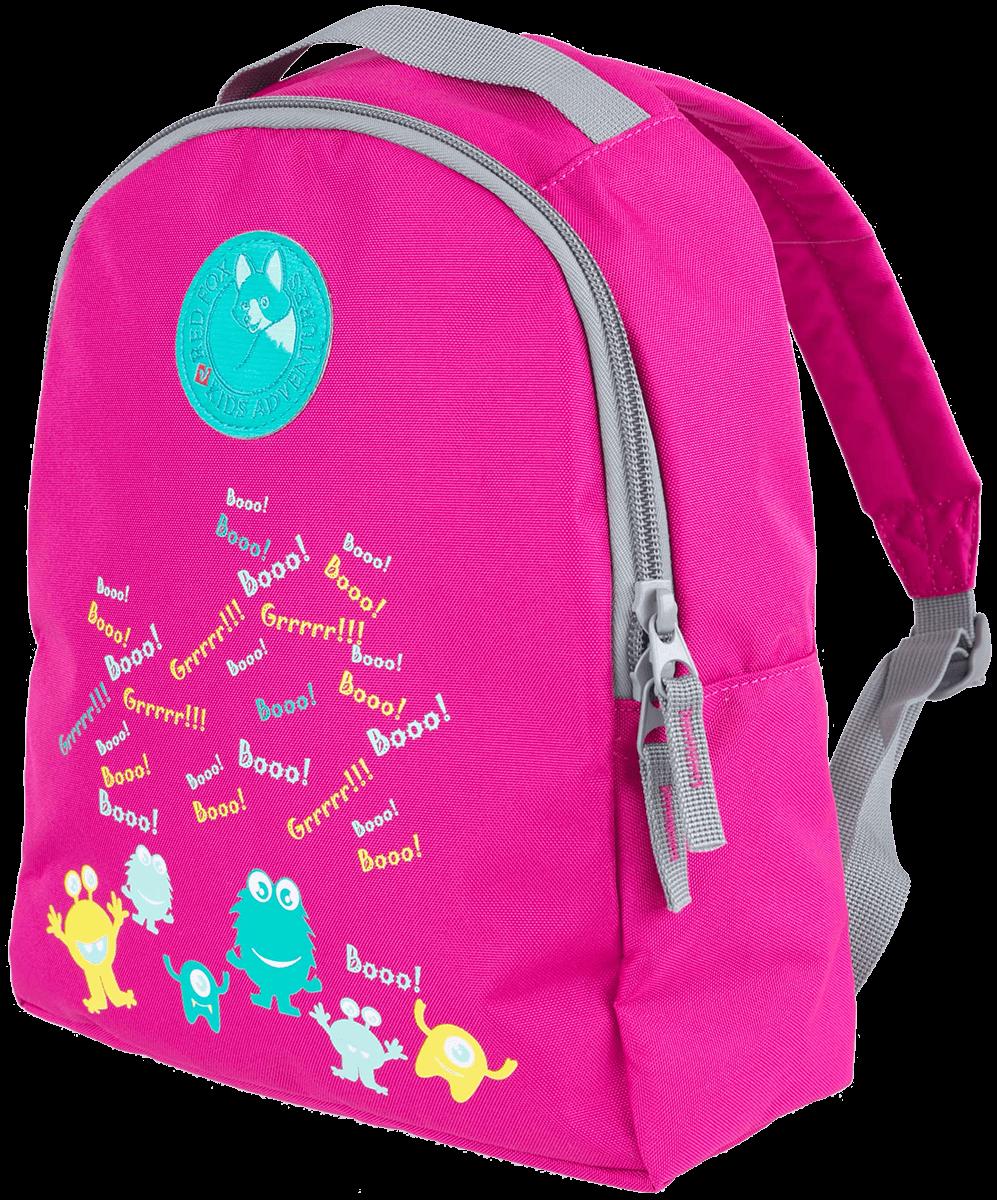 Рюкзак Happy Monsters ДетскийГородские<br>Яркий рюкзак с веселым принтом для маленьких исследователей.Анатомическая мягкая спинка и удобные лямки обеспечивают комфортное ношение.<br> Есть внутренний карман для необходимых мелочей.<br><br>Цвет: Малиновый<br>Размер: None