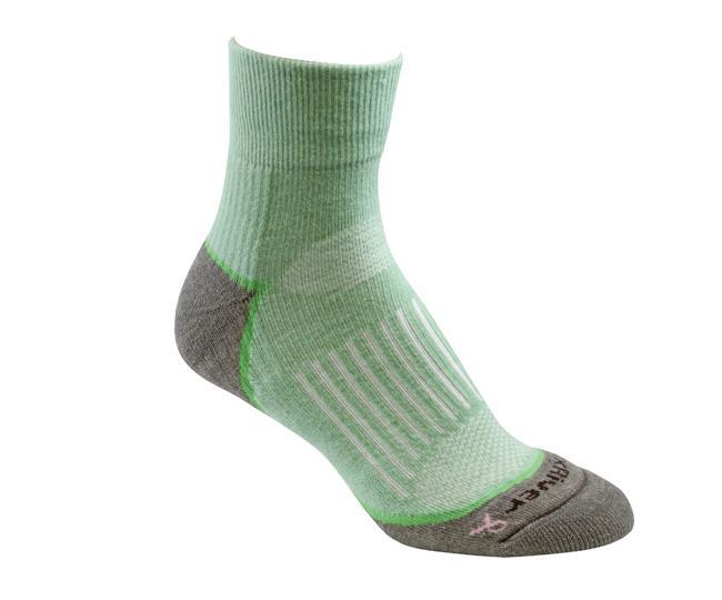Носки турист.2557 STRIVE QTR жен.Носки<br>Эти тонкие носки из мериносовой шерсти обеспечивают комфорт и амортизацию во время любых путешествий. Носки созданы специально для женской стопы - с маленьким носком и узкой пяткой.<br><br><br>Система URfit™<br>Специальные вентилируемые ...<br><br>Цвет: Цвет морской волны<br>Размер: L