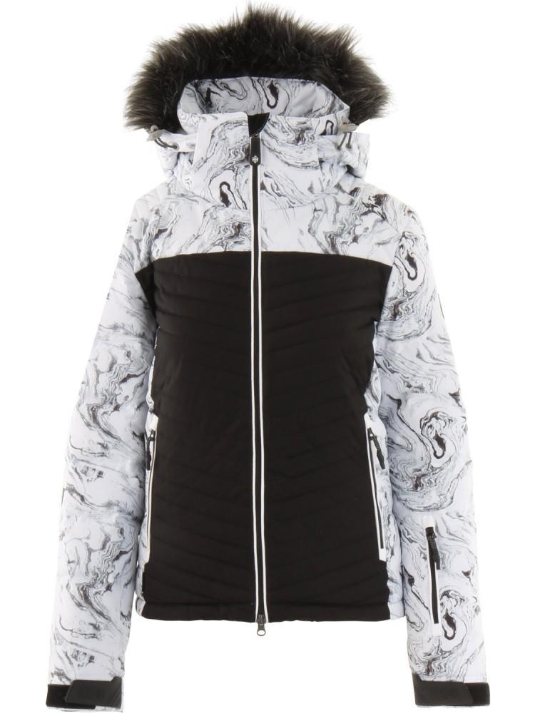 Куртка утепленная SWY2007 CRYSTALLINE 10K жен.Куртки<br>Стильная пуховая куртка для горных склонов.<br><br>проклеенные швы в критических зонах<br>съемный капюшон, регулируемый  в трех направлениях<br>съемная опушка из искусственного меха<br>центральная двухзамковая молния<br>...<br><br>Цвет: Белый<br>Размер: L