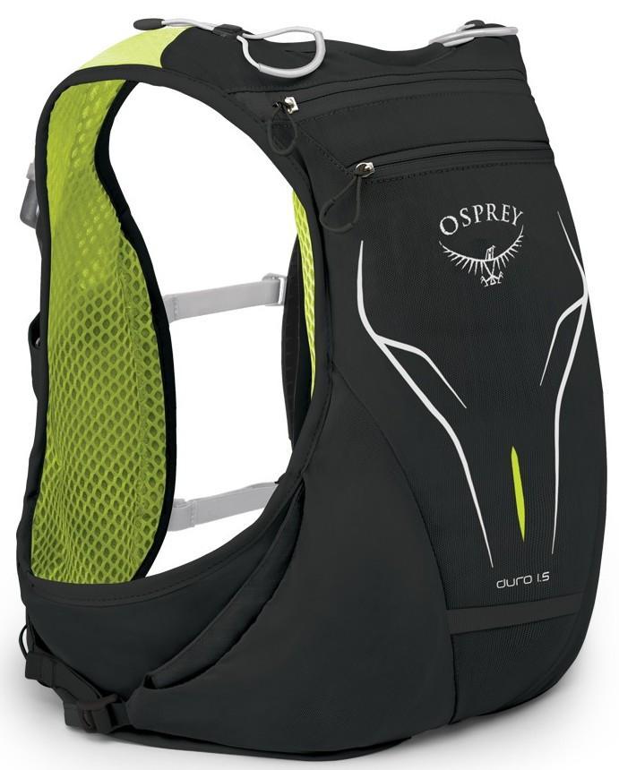 Рюкзак Duro 1.5Спортивные<br>Duro – абсолютно новый рюкзак для бега от известного бренда Osprey из коллекции Весна17. Продуманные детали и бескомпромиссный набор функций для исключительной производительности бегового рюкзака.<br>Duro 1,5 — небольшой рюкзак для бега, в которо...<br><br>Цвет: Черный<br>Размер: 2 л
