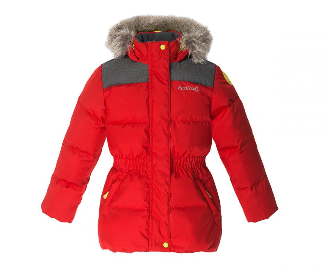 Куртка пуховая Nikki II ДетскаяКуртки<br>Пуховая куртка приталенного силуэта соригинальной отделкой. Капюшон со съемноймеховой опушкой и регулировкой по объемуобеспечивает и...<br><br>Цвет: Красный<br>Размер: 98