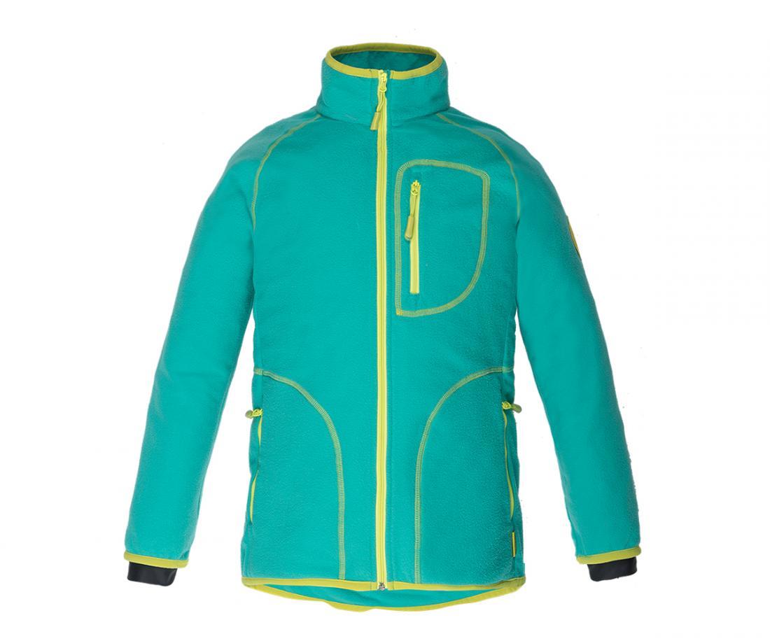 Куртка Hunny ДетскаяКуртки<br>Классическая куртка из флиса. Теплый уютный флис согреет вашего ребенка в прохладную погоду и станет превосходным дополнительным утеплением в морозное время года.<br> <br><br>Материал – Polar Fleece.<br>Защита для подбородка.<br>&lt;li...<br><br>Цвет: Бирюзовый<br>Размер: 140