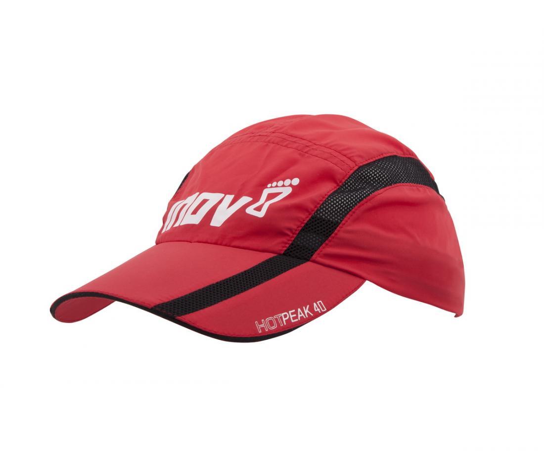 Кепка Hot Peak 40Кепки<br>Жара не помеха для тренировок на свежем воздухе, если у вас есть кепка Hot Peak 40 от Inov-8. Она надежно защищает голову от солнечных лучей и перегрева благодаря высококачественным «дышащим» материалам и вставкам из сетки. <br> <br> <br><br>...<br><br>Цвет: Красный<br>Размер: L