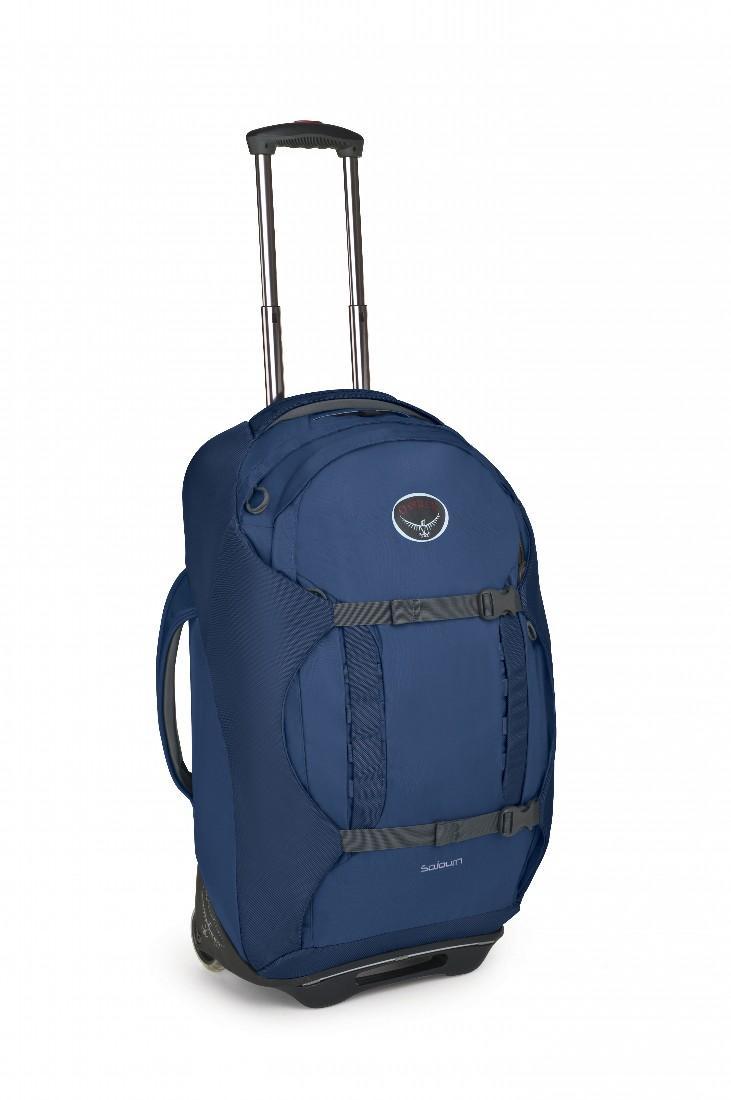 Сумка-рюкзак на колёсах SoJourn 60Сумки<br>Удовольствие от путешествия заключается как раз в том, что вы не знаете, что ждет за углом. Камни? Песок? Ступеньки? С сумкой серии Sojourn, легко трансформирующейся в рюкзак, вы окажетесь, максимально мобильны в любом путешествии. Она обладает надежно...<br><br>Цвет: Синий<br>Размер: 60 л