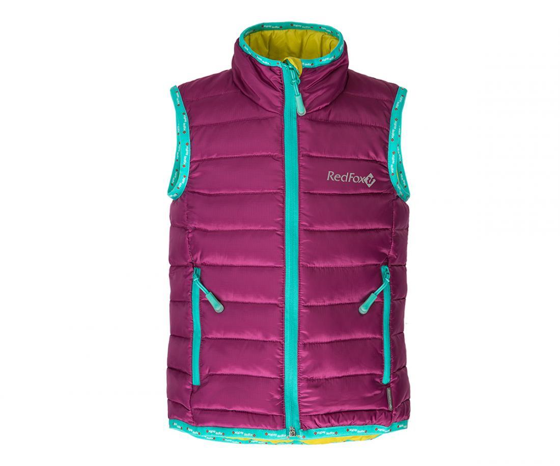 Жилет пуховый Air BabyЖилеты<br>Сверхлегкий пуховый жилет. Прекрасно подходит в качестве утепляющего слоя под куртку или как самостоятельный элемент гардероба, например:...<br><br>Цвет: Фиолетовый<br>Размер: 98